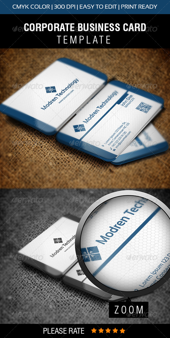 GraphicRiver Modern Technology Business Card 6284378