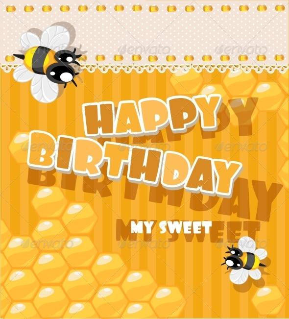 GraphicRiver Happy Birthday to My Sweet Card 6284625