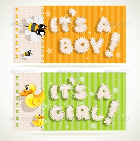 GraphicRiver It`s a Boy and It`s a Girl Banners 6284738
