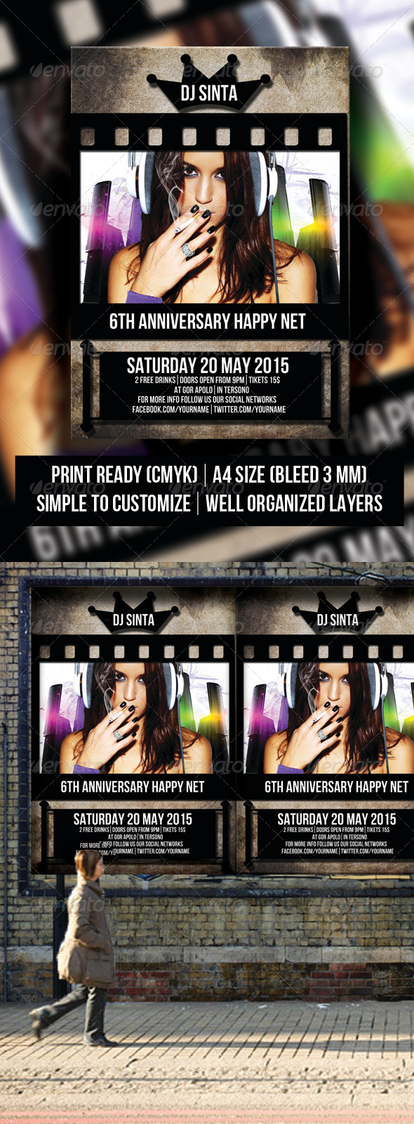 GraphicRiver One Concert Flyer 6257113