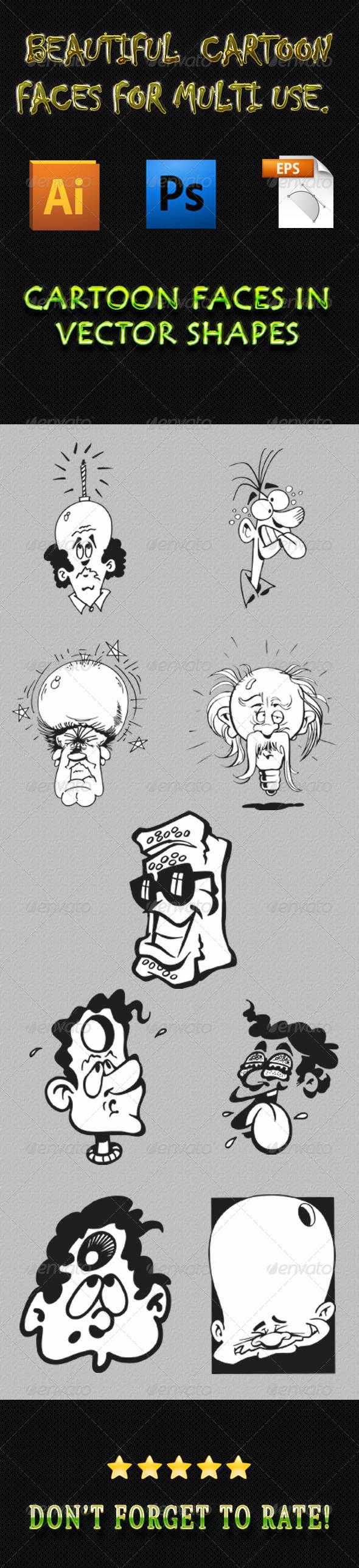 GraphicRiver Cartoon Faces 01 6286431