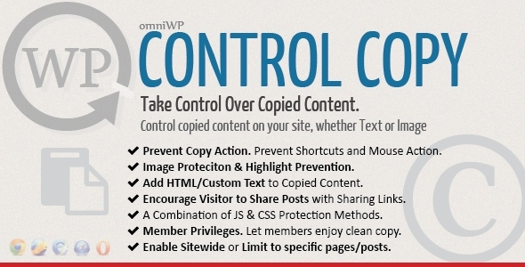 WP Control Copy - Take Over Copied Content. - CodeCanyon Item for Sale
