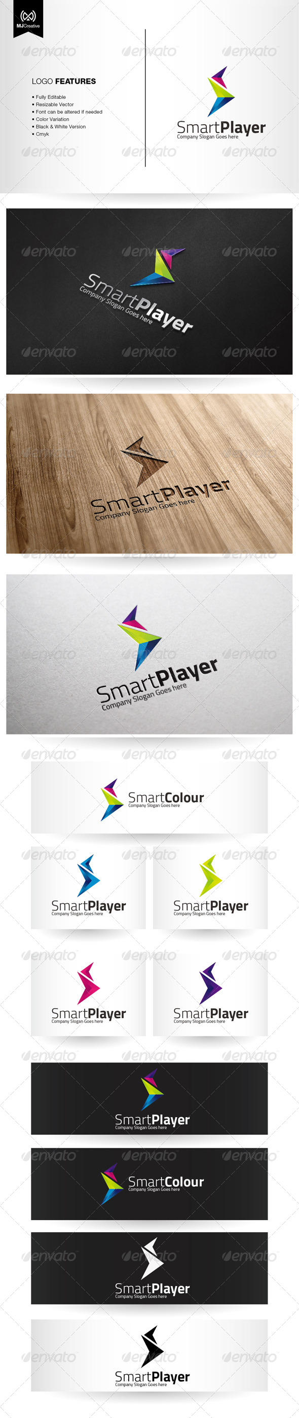 GraphicRiver Abstract S and Play Forward Logo 6288149