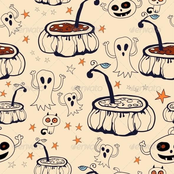 GraphicRiver Halloween Seamless Background 6288914