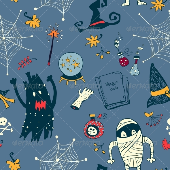 GraphicRiver Halloween Seamless Background 6288915