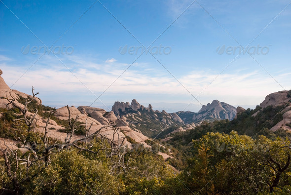 Mountains of Montserrat, near Barcelona - Stock Photo - Images