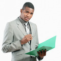 Businessman with file - PhotoDune Item for Sale