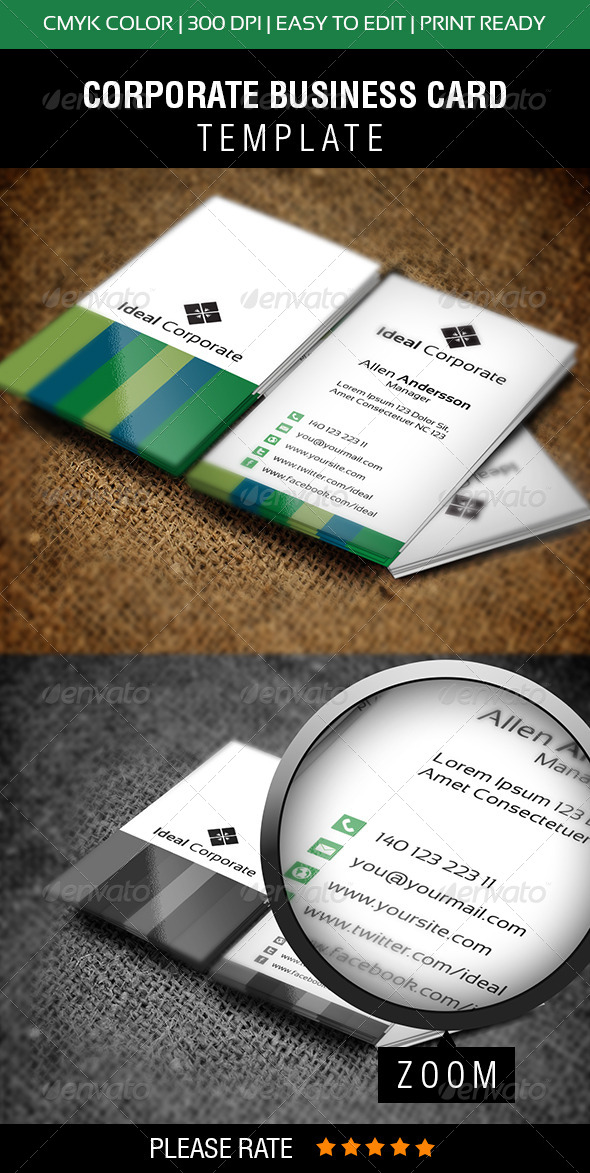 GraphicRiver Ideal Corporate Business Card 6291888