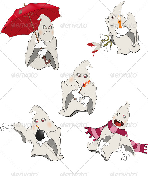 GraphicRiver Ghosts Clip Art Cartoon 6292306