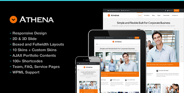 Athena Simple Flexible Corporate Business Theme - Business Corporate