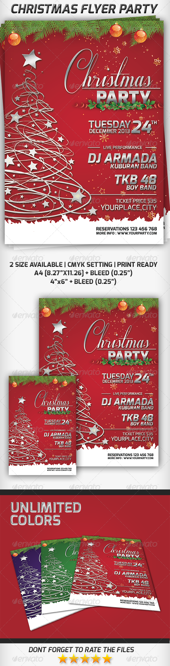 GraphicRiver Christmas Flyer Party 6292862