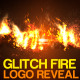 Logo Glitch Fire Reveal - VideoHive Item for Sale