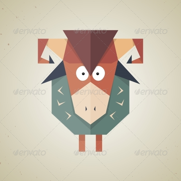 GraphicRiver Origami Sheep from Folded Paper 6293622