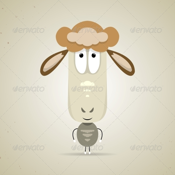 GraphicRiver Cartoon Smiling Sheep 6293625