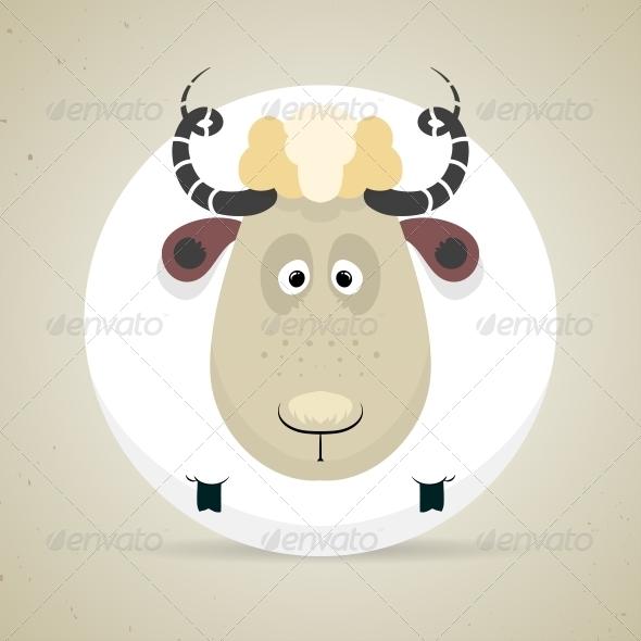 GraphicRiver Cartoon Smiling Sheep 6293626