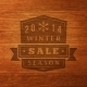 2014 Winter Sale Label on Wood Texture - GraphicRiver Item for Sale
