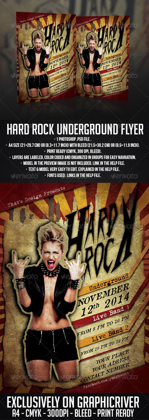 GraphicRiver Hard Rock Underground Flyer Template 6295486