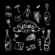 Wine Set on Chalkboard - GraphicRiver Item for Sale