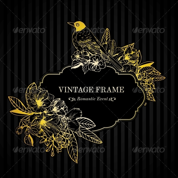 GraphicRiver Romantic Card Gold Engraving 6295619