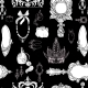 Seamless Princess Accessories on Black - GraphicRiver Item for Sale