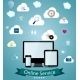 Online Service Concept Vector Illustration - GraphicRiver Item for Sale