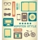 Flat Hipster Set of Web Elements - GraphicRiver Item for Sale