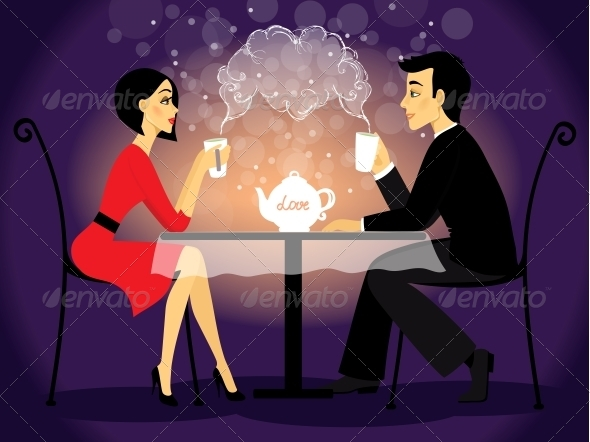 GraphicRiver Dating Couple Scene Love Confession 6295846