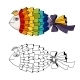 Rainbow Fish Coloring - GraphicRiver Item for Sale