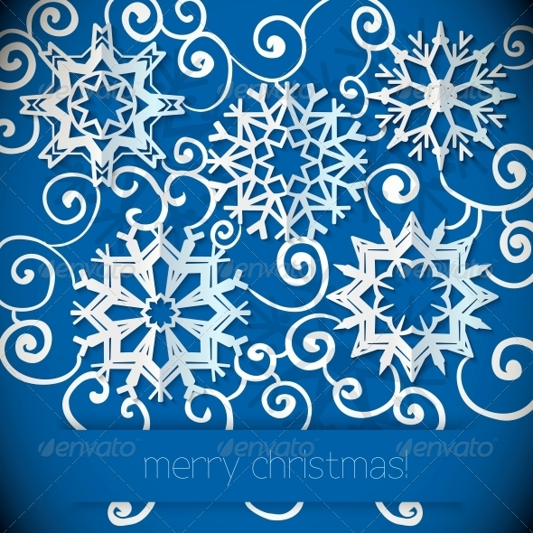 GraphicRiver Snowflakes Background 6295881