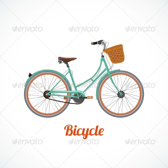 GraphicRiver Vintage Bicycle Symbol 6295887