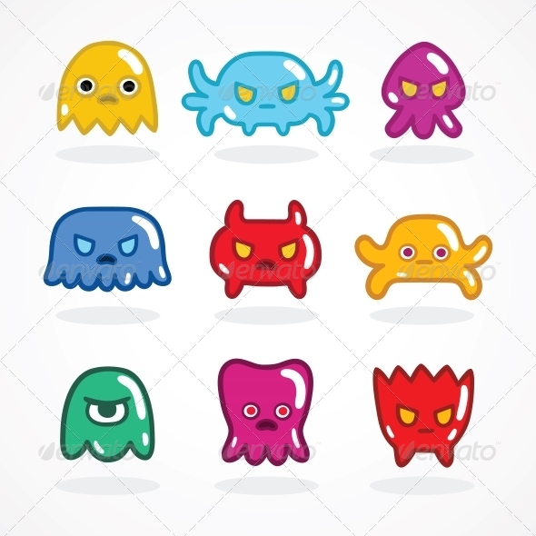 GraphicRiver Retro Video Game Monsters Set 6295918