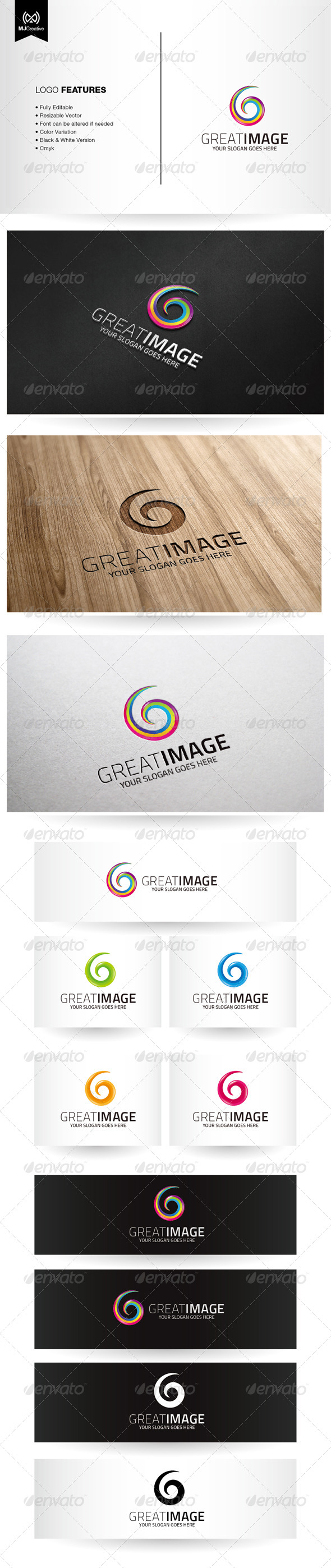 GraphicRiver Spiral Colorful G Logo 6295989