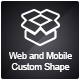 Universal Web and Mobile Custom Shape - GraphicRiver Item for Sale