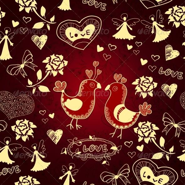 GraphicRiver Romantic Seamless Love Background 6296755