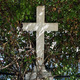marble cross and overgrown plant - PhotoDune Item for Sale