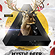 Mystic Deer Flyer Template - GraphicRiver Item for Sale