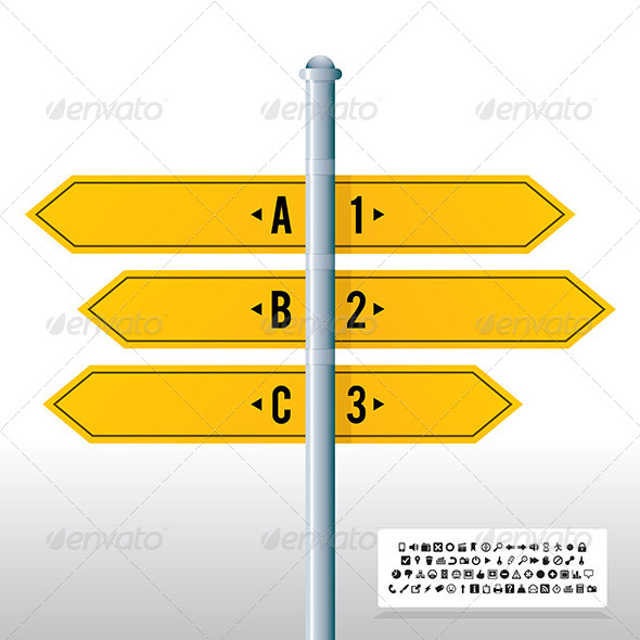 GraphicRiver Road Sign Label Banner Background 6299503