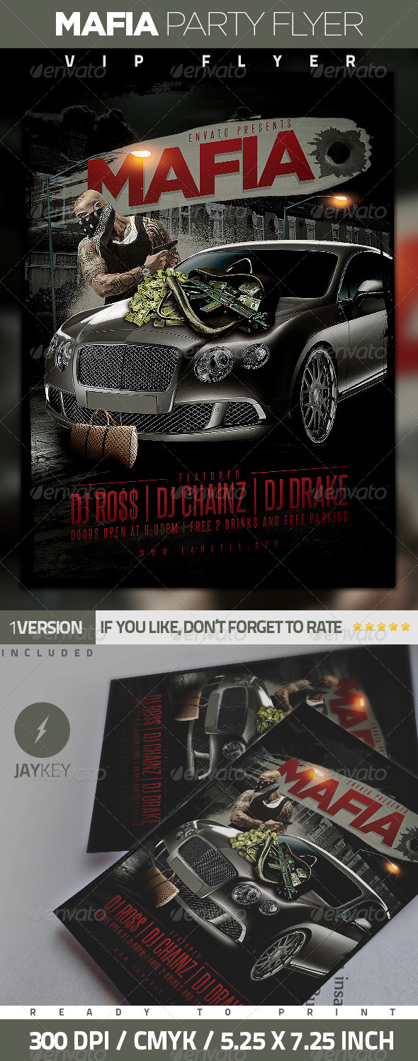GraphicRiver Mafia Urban Party Flyer 6299602