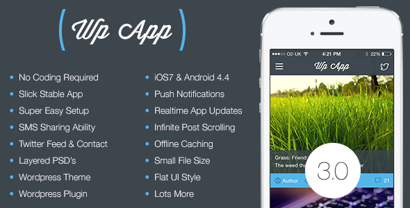 Universal WP App: iOS and Android Blog Companion - CodeCanyon Item for Sale