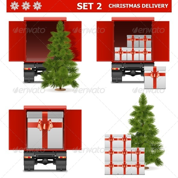 GraphicRiver Vector Christmas Delivery Set 6299912