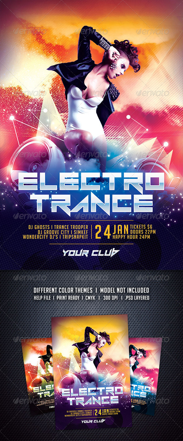 GraphicRiver Electro Trance Flyer 6300838