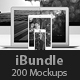 iBundle - 200 Responsive Screen Mockups - GraphicRiver Item for Sale