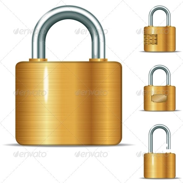 GraphicRiver Open and Closed Padlocks 6301814