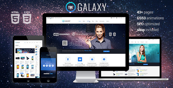 ThemeForest The Galaxy Responsive Multipurpose Template 6302011