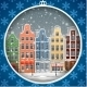 Greeting Card with Winter Town - GraphicRiver Item for Sale
