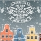 Greeting Card with Winter Town. - GraphicRiver Item for Sale