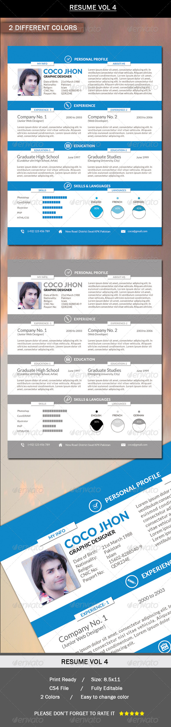 GraphicRiver Resume Vol.4 6302576