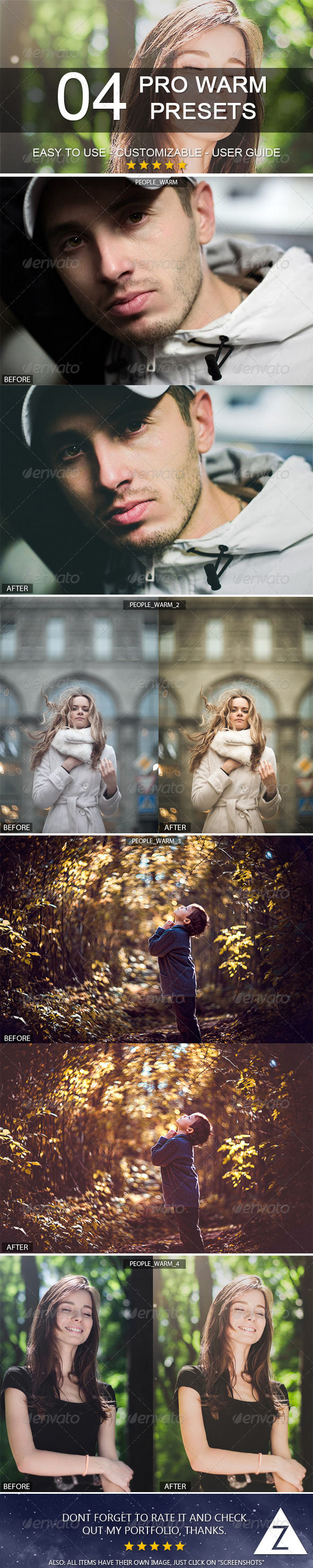 GraphicRiver 4 Warm Presets 6264730