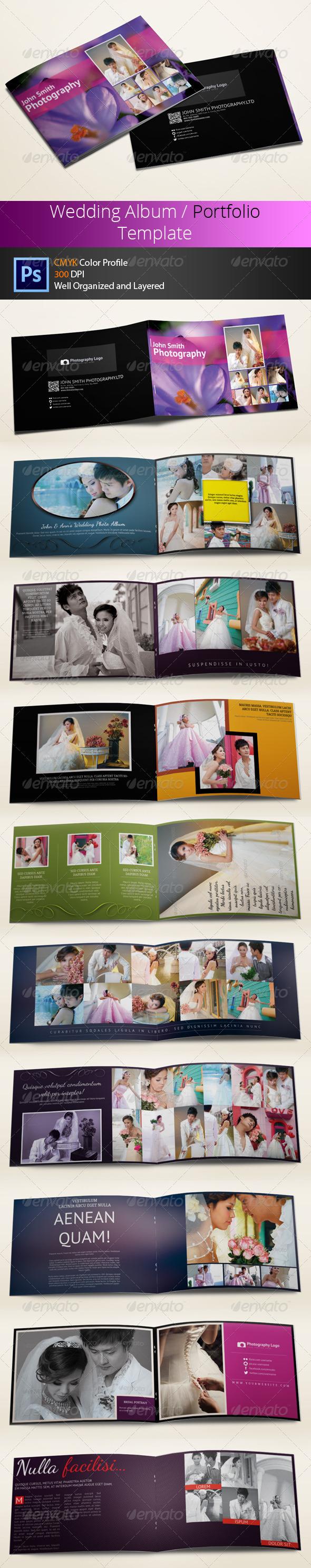 GraphicRiver Wedding Photo Album or Portfolio 6303873