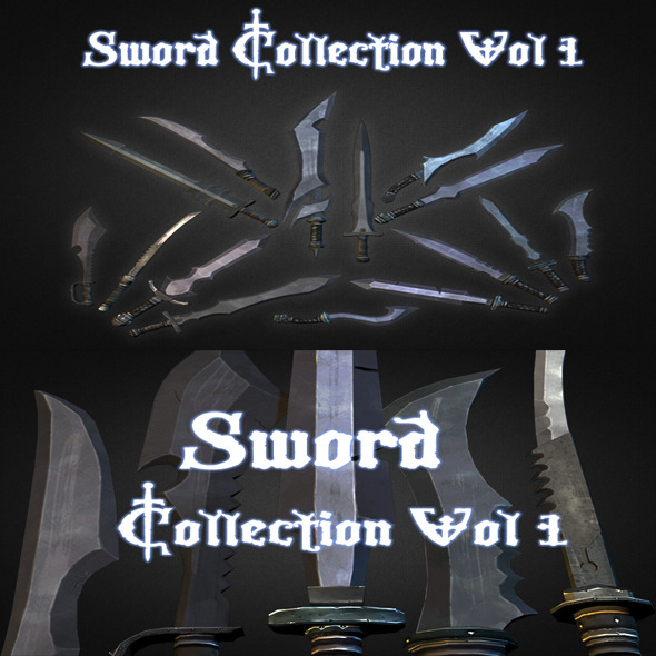 3DOcean Sword Collection Vol 1 6303941